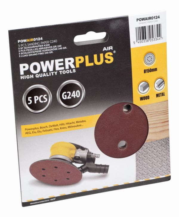 PowerPlus POWAIR0124 5x brusný disk G240