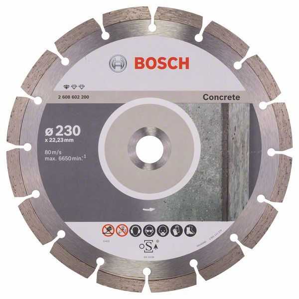 BOSCH Diamantový kotouč Standard for Concrete - 230 x 22,23 x 2,3 x 10 mm - 2608602200