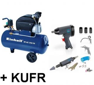 Einhell BT-AC 250/50 Blue + pneu set 25 ks